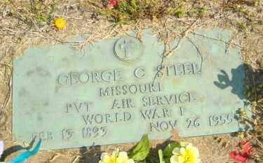 STEEL (VETERAN WWI), GEORGE C - Mississippi County, Arkansas | GEORGE C STEEL (VETERAN WWI) - Arkansas Gravestone Photos