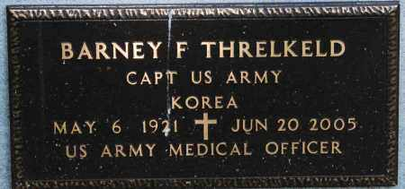 THRELKELD  (VETERAN KOR), BARNEY F. - Mississippi County, Arkansas | BARNEY F. THRELKELD  (VETERAN KOR) - Arkansas Gravestone Photos