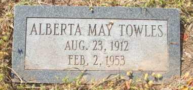 TOWLES, ALBERTA MAY - Mississippi County, Arkansas   ALBERTA MAY TOWLES - Arkansas Gravestone Photos