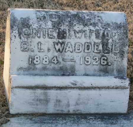 WADDELL, ONIE H. - Mississippi County, Arkansas | ONIE H. WADDELL - Arkansas Gravestone Photos