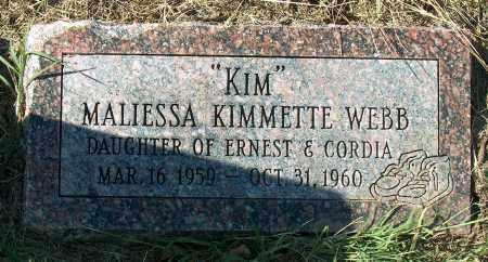 WEBB, MALIESSA KIMMETTE - Mississippi County, Arkansas | MALIESSA KIMMETTE WEBB - Arkansas Gravestone Photos