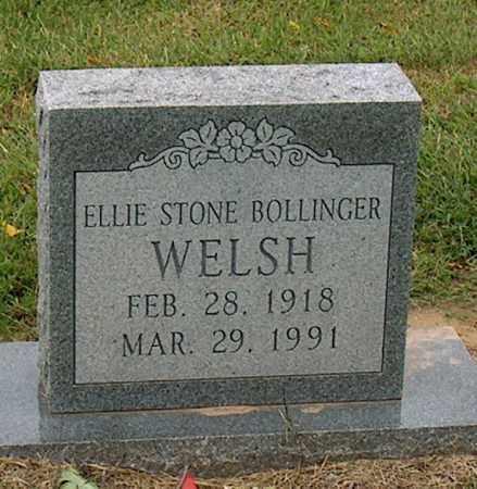 WELSH, ELLIE STONE BOLLINGER - Mississippi County, Arkansas | ELLIE STONE BOLLINGER WELSH - Arkansas Gravestone Photos