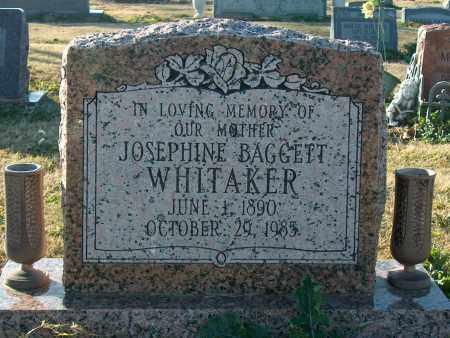 BAGGETT WHITAKER, JOSEPHINE - Mississippi County, Arkansas   JOSEPHINE BAGGETT WHITAKER - Arkansas Gravestone Photos