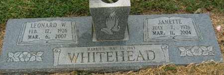 WHITEHEAD, JANETTE - Mississippi County, Arkansas | JANETTE WHITEHEAD - Arkansas Gravestone Photos