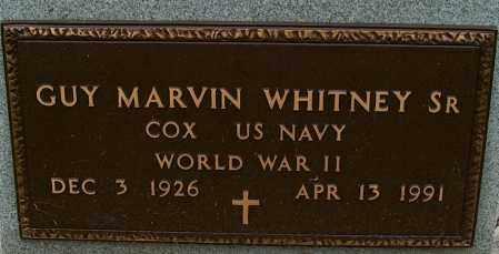 WHITNEY, SR (VETERAN WWII), GUY MARVIN - Mississippi County, Arkansas | GUY MARVIN WHITNEY, SR (VETERAN WWII) - Arkansas Gravestone Photos