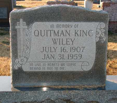 WILEY, QUITMAN KING - Mississippi County, Arkansas | QUITMAN KING WILEY - Arkansas Gravestone Photos