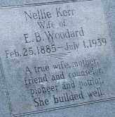 WOODARD, NELLIE KERR (CLOSE UP) - Mississippi County, Arkansas | NELLIE KERR (CLOSE UP) WOODARD - Arkansas Gravestone Photos