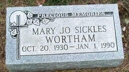 SICKLES WORTHAM, MARY JO - Mississippi County, Arkansas | MARY JO SICKLES WORTHAM - Arkansas Gravestone Photos