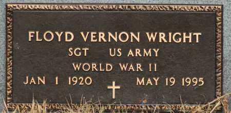 WRIGHT  (VETERAN WWII), FLOYD VERNON - Mississippi County, Arkansas   FLOYD VERNON WRIGHT  (VETERAN WWII) - Arkansas Gravestone Photos