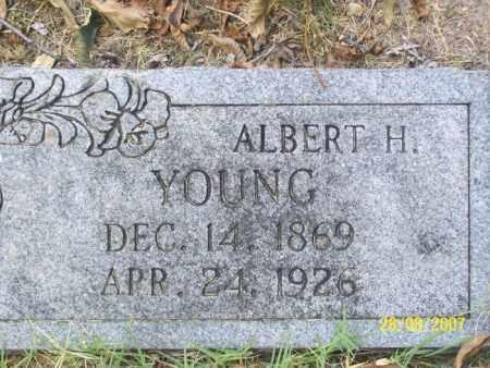 YOUNG, ALBERT H. - Mississippi County, Arkansas   ALBERT H. YOUNG - Arkansas Gravestone Photos