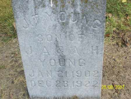 YOUNG, J. T. - Mississippi County, Arkansas   J. T. YOUNG - Arkansas Gravestone Photos