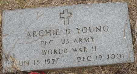 YOUNG (VETERAN WWII), ARCHIE D - Mississippi County, Arkansas   ARCHIE D YOUNG (VETERAN WWII) - Arkansas Gravestone Photos