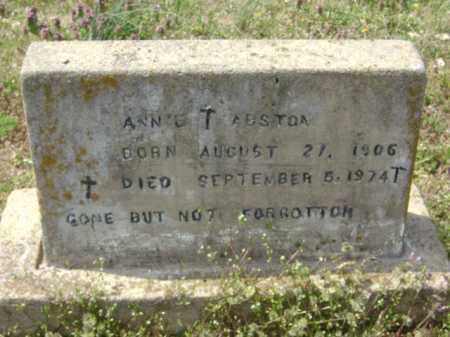 ABSTON, ANNIE T. - Monroe County, Arkansas | ANNIE T. ABSTON - Arkansas Gravestone Photos