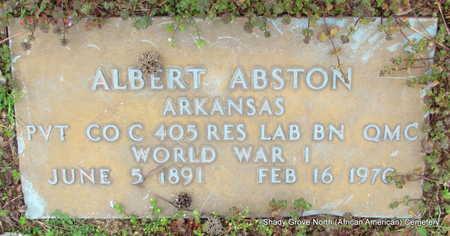 ABSTON (VETERAN WWI), ALBERT - Monroe County, Arkansas   ALBERT ABSTON (VETERAN WWI) - Arkansas Gravestone Photos