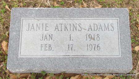 ATKINS ADAMS, JANIE - Monroe County, Arkansas   JANIE ATKINS ADAMS - Arkansas Gravestone Photos