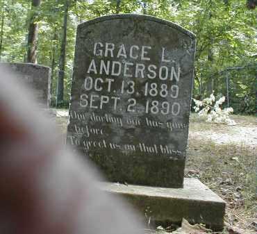 ANDERSON, GRACE - Monroe County, Arkansas | GRACE ANDERSON - Arkansas Gravestone Photos