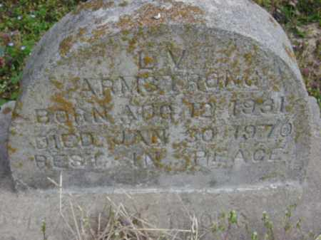 ARMSTRONG, L. V. - Monroe County, Arkansas   L. V. ARMSTRONG - Arkansas Gravestone Photos