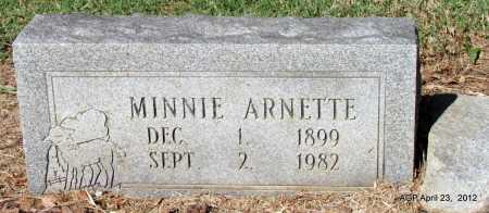 ARNETTE, MINNIE - Monroe County, Arkansas | MINNIE ARNETTE - Arkansas Gravestone Photos