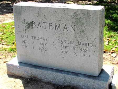 BATEMAN, JAKE THOMAS - Monroe County, Arkansas | JAKE THOMAS BATEMAN - Arkansas Gravestone Photos