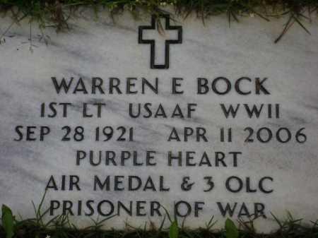 BOCK (VETERAN WWII, POW), WARREN E. - Monroe County, Arkansas   WARREN E. BOCK (VETERAN WWII, POW) - Arkansas Gravestone Photos