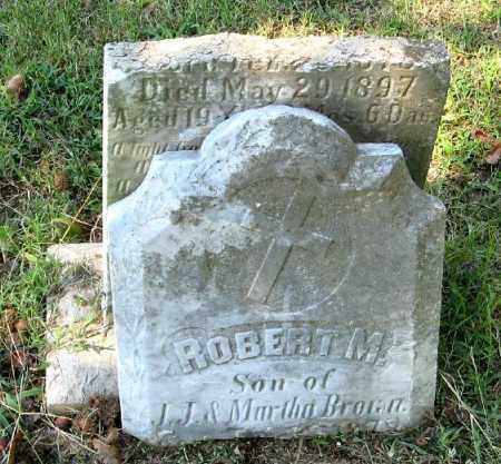 BROWN, ROBERT M. - Monroe County, Arkansas | ROBERT M. BROWN - Arkansas Gravestone Photos