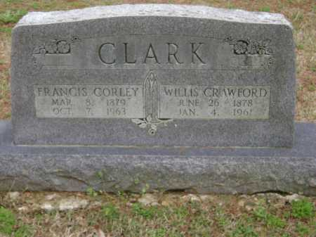 CLARK, WILLIS CRAWFORD - Monroe County, Arkansas | WILLIS CRAWFORD CLARK - Arkansas Gravestone Photos