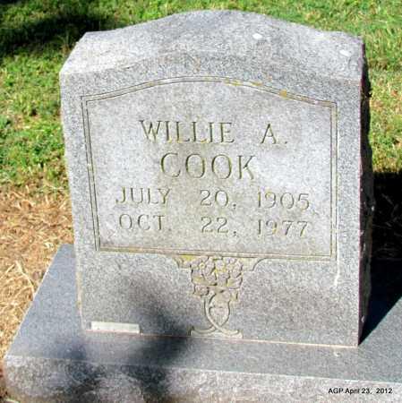 COOK, WILLIE A - Monroe County, Arkansas | WILLIE A COOK - Arkansas Gravestone Photos