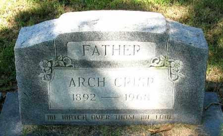 CRISP, ARCH - Monroe County, Arkansas   ARCH CRISP - Arkansas Gravestone Photos