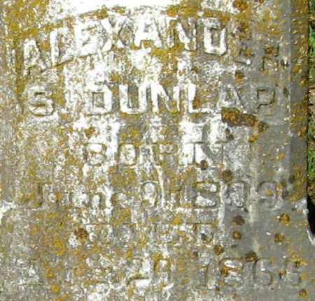 DUNLAP, ALEXANDER S (CLOSE UP) - Monroe County, Arkansas | ALEXANDER S (CLOSE UP) DUNLAP - Arkansas Gravestone Photos
