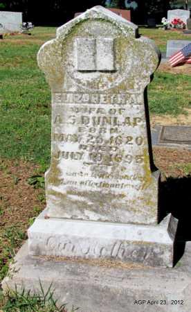 DUNLAP, ELIZABETH A - Monroe County, Arkansas   ELIZABETH A DUNLAP - Arkansas Gravestone Photos