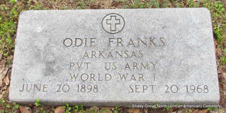 FRANKS (VETERAN WWI), ODIE - Monroe County, Arkansas | ODIE FRANKS (VETERAN WWI) - Arkansas Gravestone Photos