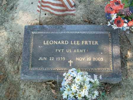 FRYER  (VETERAN), LEONARD LEE - Monroe County, Arkansas | LEONARD LEE FRYER  (VETERAN) - Arkansas Gravestone Photos
