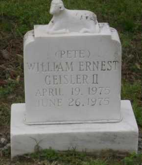 GEISLER, WILLIAM ERNEST II 'PETE' - Monroe County, Arkansas   WILLIAM ERNEST II 'PETE' GEISLER - Arkansas Gravestone Photos