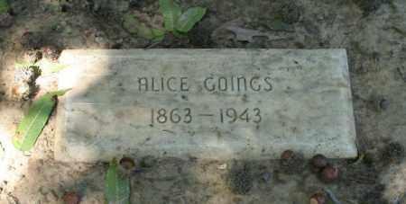 GOINGS, ALICE - Monroe County, Arkansas | ALICE GOINGS - Arkansas Gravestone Photos