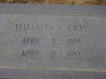 GRAY, ELIZABETH L. - Monroe County, Arkansas | ELIZABETH L. GRAY - Arkansas Gravestone Photos