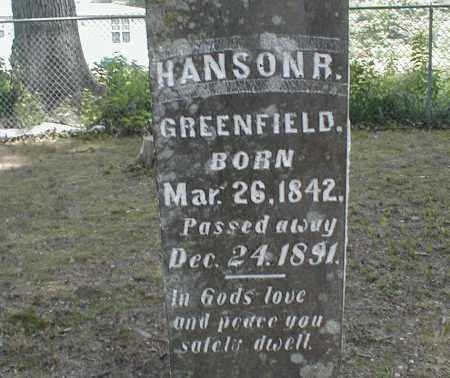 GREENFIELD, HANSON - Monroe County, Arkansas | HANSON GREENFIELD - Arkansas Gravestone Photos