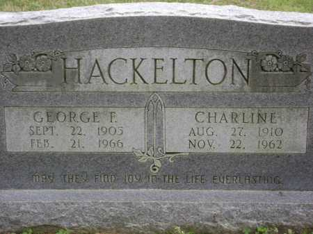 HACKELTON, CHARLINE - Monroe County, Arkansas   CHARLINE HACKELTON - Arkansas Gravestone Photos