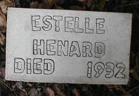 HENARD, ESTELLE - Monroe County, Arkansas   ESTELLE HENARD - Arkansas Gravestone Photos