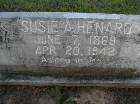 HENARD, SUSIE A. - Monroe County, Arkansas   SUSIE A. HENARD - Arkansas Gravestone Photos