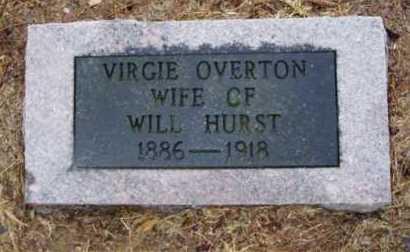 OVERTON HURST, VIRGIE - Monroe County, Arkansas | VIRGIE OVERTON HURST - Arkansas Gravestone Photos
