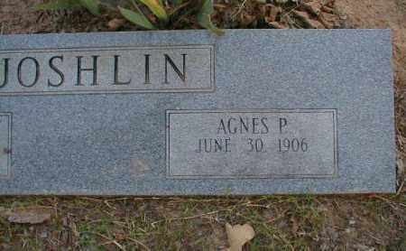HENARD JOSHLIN, AGNES P. - Monroe County, Arkansas | AGNES P. HENARD JOSHLIN - Arkansas Gravestone Photos