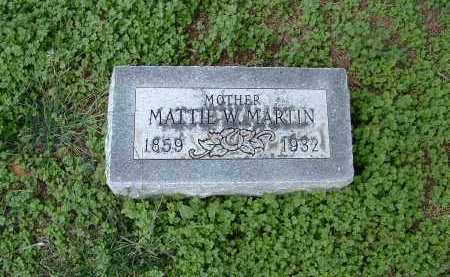 MARTIN, MATTIE - Monroe County, Arkansas | MATTIE MARTIN - Arkansas Gravestone Photos