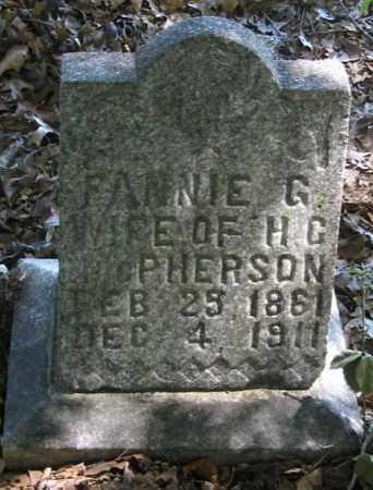HILL MCPHERSON, FANNY G. - Monroe County, Arkansas   FANNY G. HILL MCPHERSON - Arkansas Gravestone Photos