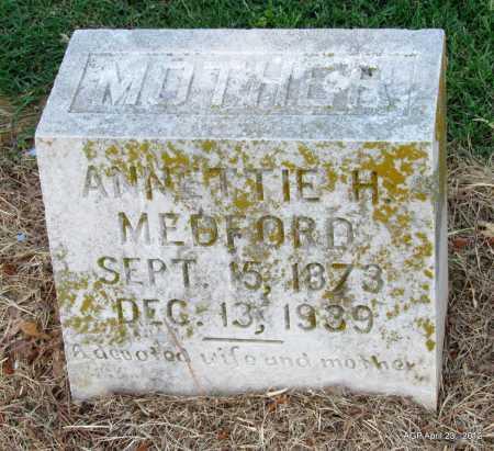 MEDFORD, ANNETTIE H - Monroe County, Arkansas   ANNETTIE H MEDFORD - Arkansas Gravestone Photos