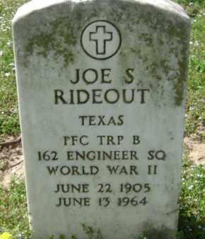 RIDEOUT (VETERAN WWII), JOE S. - Monroe County, Arkansas | JOE S. RIDEOUT (VETERAN WWII) - Arkansas Gravestone Photos