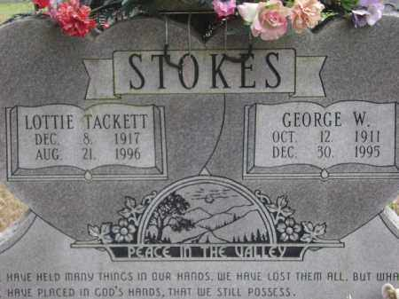 STOKES, LOTTIE TACKETT - Monroe County, Arkansas   LOTTIE TACKETT STOKES - Arkansas Gravestone Photos