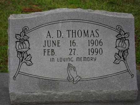 THOMAS, A. D. - Monroe County, Arkansas | A. D. THOMAS - Arkansas Gravestone Photos