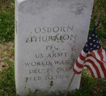 THURMON (VETERAN WWI), OSBORN - Monroe County, Arkansas | OSBORN THURMON (VETERAN WWI) - Arkansas Gravestone Photos
