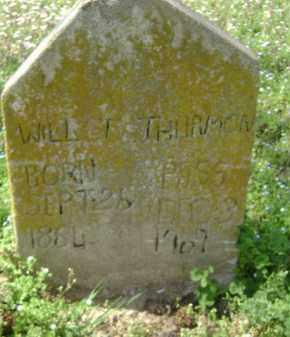 THURMON, WILL T. - Monroe County, Arkansas   WILL T. THURMON - Arkansas Gravestone Photos