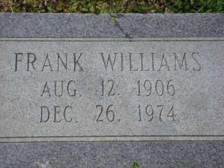 WILLIAMS, FRANK - Monroe County, Arkansas   FRANK WILLIAMS - Arkansas Gravestone Photos